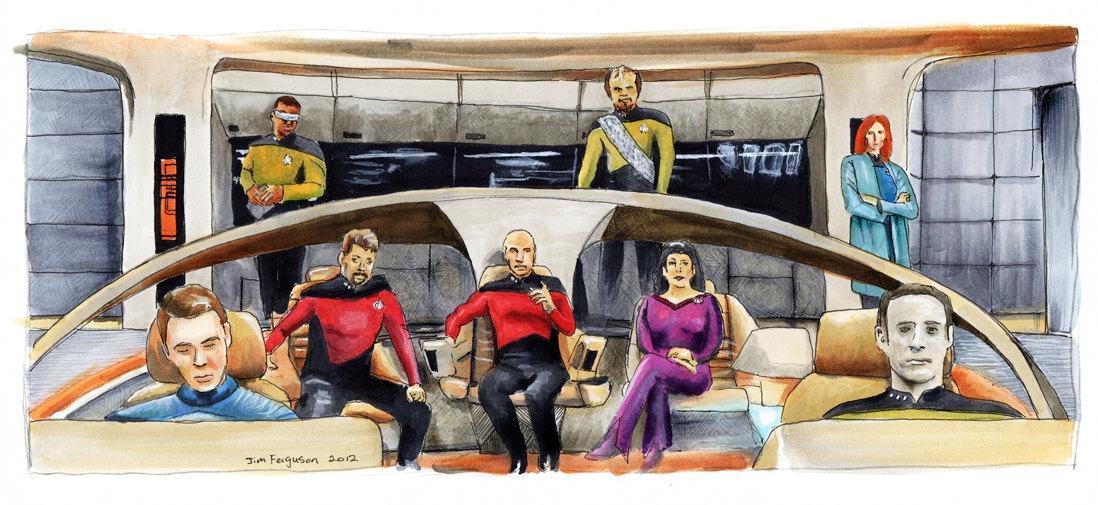 Star Trek The Next Generation 25th Anniversary Make It So Print