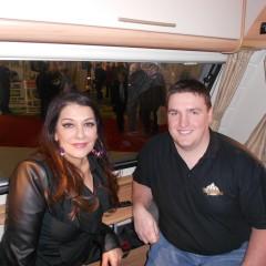 Meeting Marina Sirtis – Interviewing in a Caravan