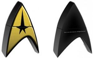 Star Trek - USB Gold Pin Badge 1