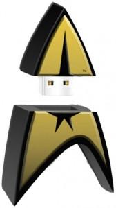 Star Trek - USB Gold Pin Badge