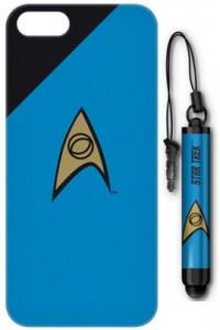 Star Trek - iPhone 5 Case and Stylus - Science Blue Badge