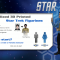 Personalized 3D Printed Star Trek Figurines
