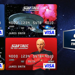 Star Trek TNG Prepaid VISA Cards Now Available