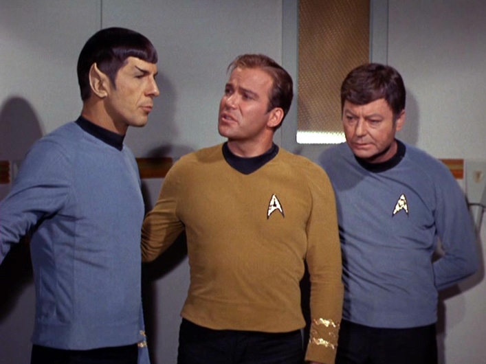Image result for kirk spock mccoy debate