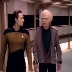 Encounter at Farpoint, Part 2, TNG S1E2.  The Battle Bridges maiden voyage.