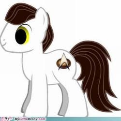 Pony with Starfleet Delta cutie mark
