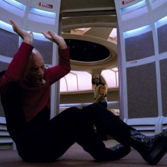 Night Terrors, TNG S4 E17 Review, The Battle Bridge