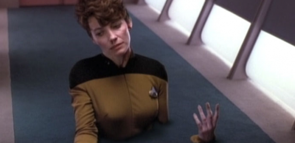 In Theory, TNG S4 E25 Review, The Battle Bridge