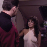 Man of the People, TNG S6 E03 Review, The Battle Bridge